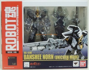 Robot Damashii Banshee Norn Unicorn Mode Box
