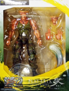Square-Enix Street Fighter Guile Play Arts Kai Figure Box
