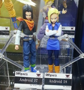 SH Figuarts Android 17 and Android 18 Dragon Ball Z Figures at Bandai Booth at SDCC 2013
