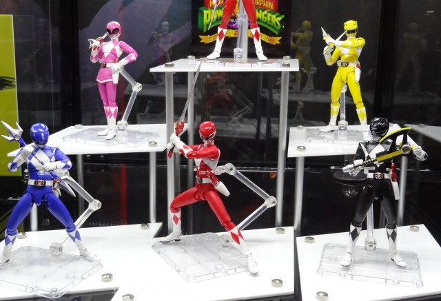 SH Figuarts Complete Mighty Morphin Power Rangers Team All 5 Rangers SDCC 2013