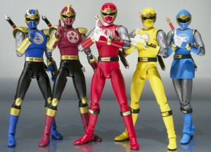 SH Figures Ninja Storm Power Rangers Figures Complete Team with Red Yellow Blue Wind and Crimson Navy Thunder