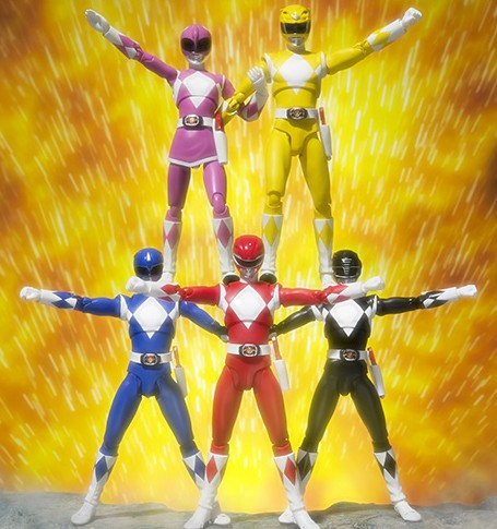 Bandai Mighty Morphin Power Rangers SH Figuarts Figures Team Complete