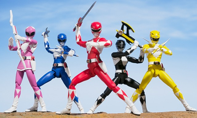 SH Figuarts Mighty Morphin Power Rangers Team Figures Together