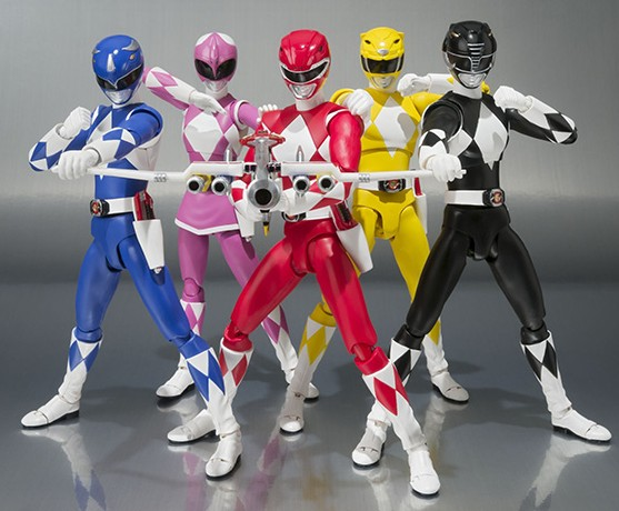 SH Figuarts Red Pink Blue Black Yellow Power Rangers Figures MMPR