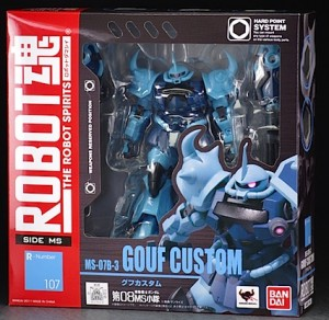 Robot Spirits Gouf Custom SIDE MS 107 Packaged in Box